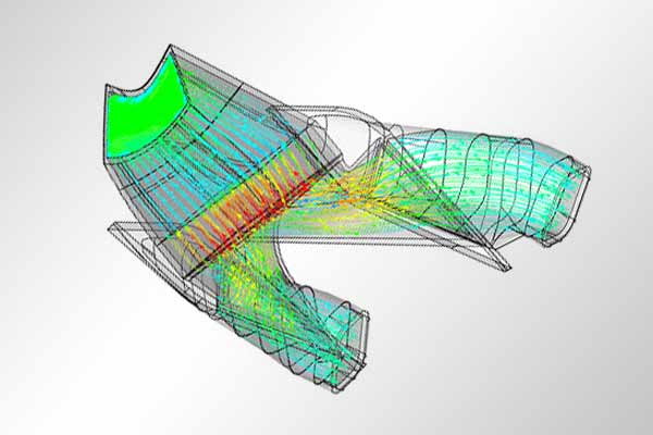CFD of cooling duct flow