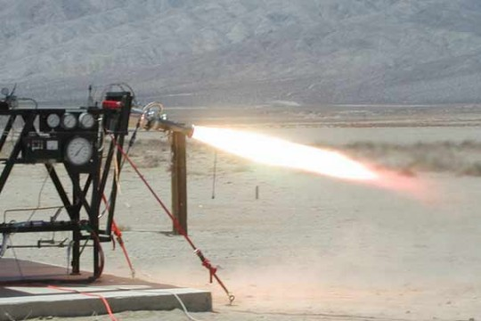 gimbal-rocket-test-firing
